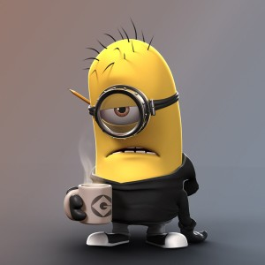 Tired-Minion-Coffee-Best-Funny-iPAD-iCloud-WallPaper